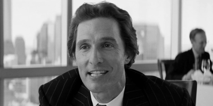 Matthew McConaughey em O Lobo de Wall Street